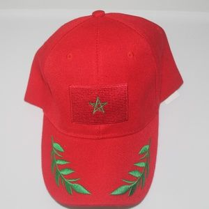 Other - Morocco Baseball Hat Red and Green Strapback NWOT